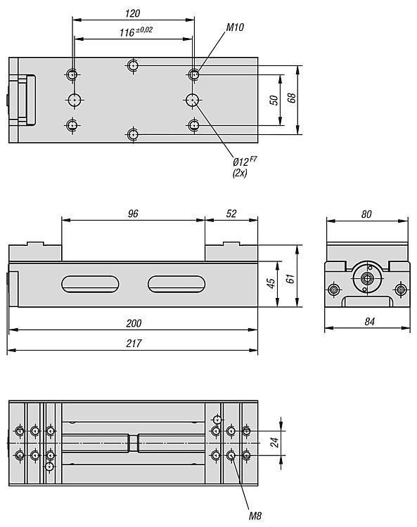 Étau auto-centrant, largeur de mors 80 mm - Etau auto-centrant