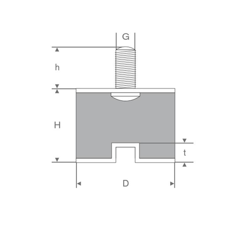 Schwingungsdämpfer 8x8mm - Schwingungsdämpfer