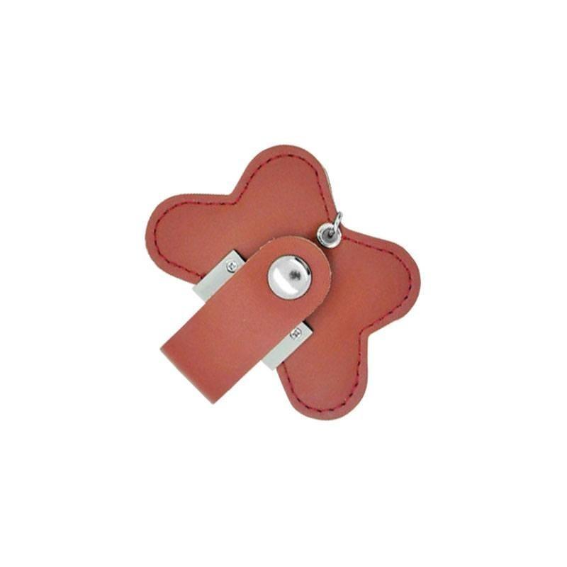 Cle USB Cuir Fleur - Clé USB cuir