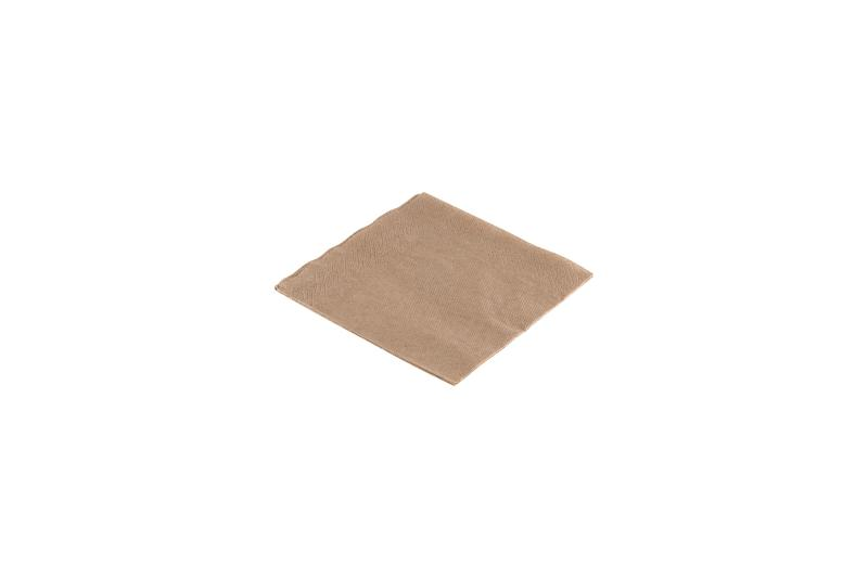 «Kraft» paper napkins - 1 ply brown paper napkins