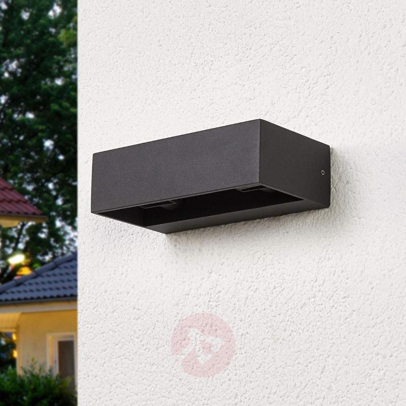 Angular LED wall lamp Katinka for outdoors - Outdoor Wall Lights