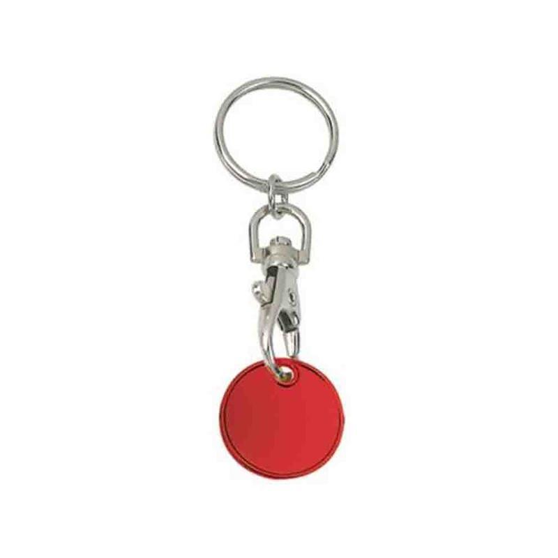 Porte-clés jeton alu argent - Porte-clés métal