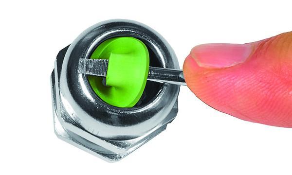 WADI heat prensaestopas de latón - de latón niquelado con rosca métrica M12 - M63