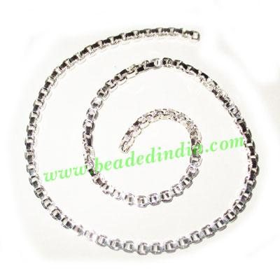 Silver Plated Metal Chain, size: 3mm, approx 25.9 meters in  - Silver Plated Metal Chain, size: 3mm, approx 25.9 meters in a Kg.