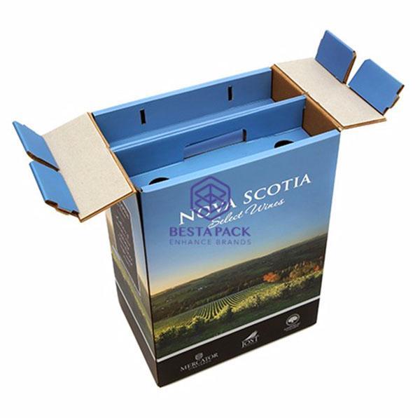 Caja de mudanza - caja de transporte con asa incorporada, separador reforzado e inserto corrugado
