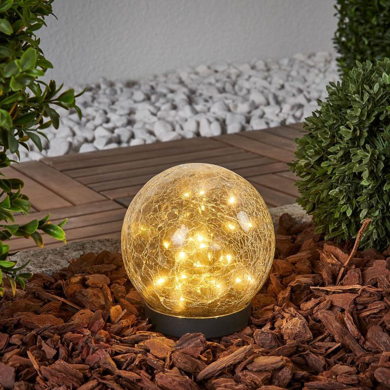 Lampe solaire à poser sphérique Glory - Lampes décoratives d'extérieur