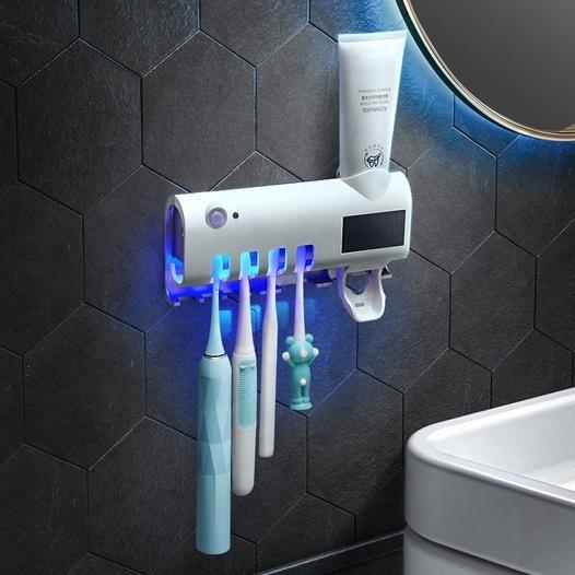 UVC-Desinfektion Zahnbürstenhalter mit Zahnpaste Spender - null