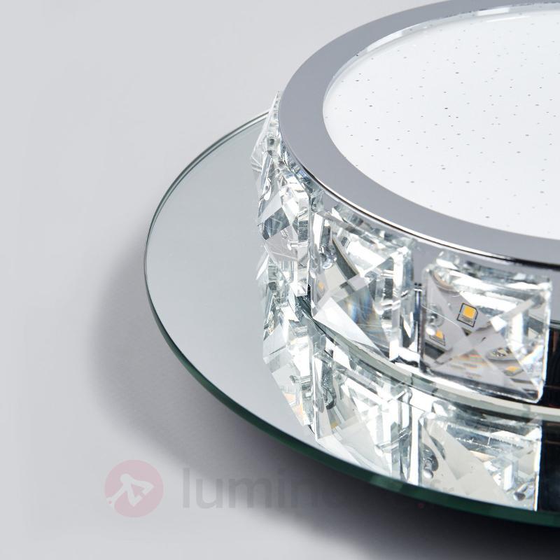 Melek - plafonnier LED étincelant de forme ronde - Plafonniers LED