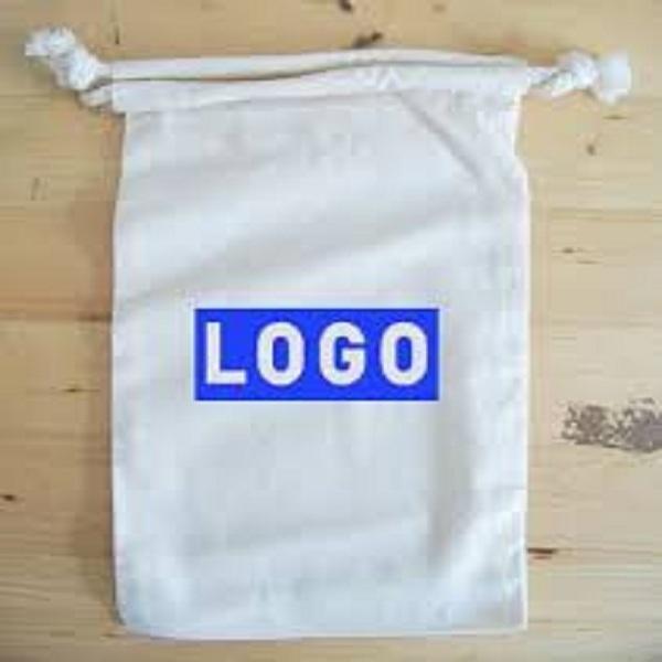 Eco cotton drawstring gift pouches - 100 % Eco Friendly Drawstring Bag