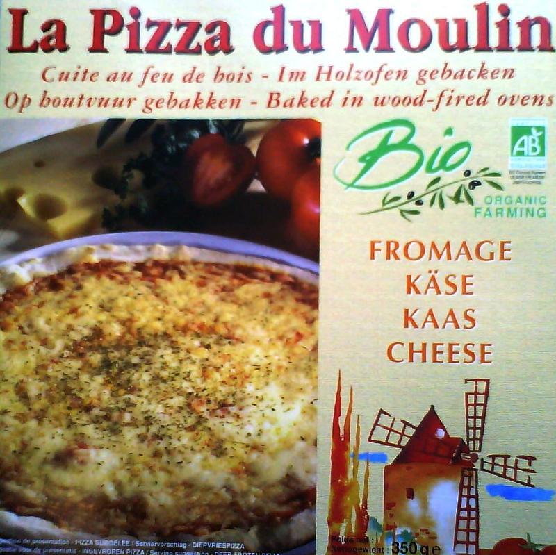 Pizza au fromage - Pizza biologique et surgelée