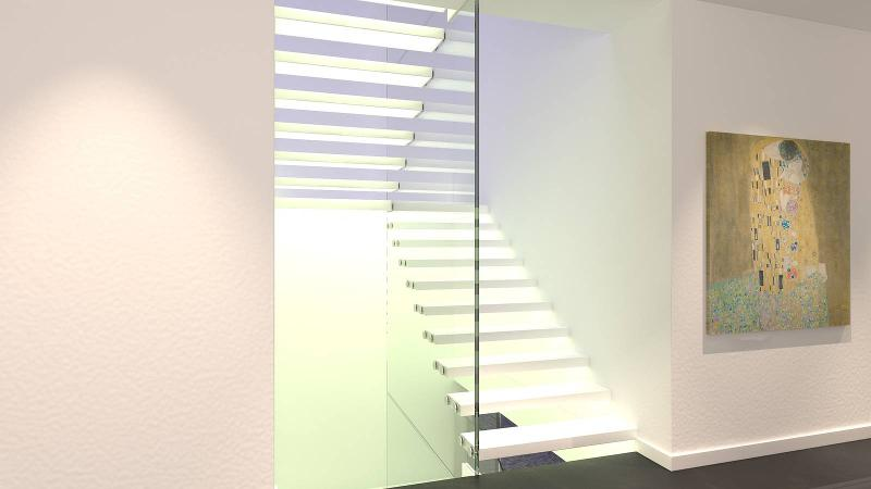 Stairs in Corian - Mistral Corian