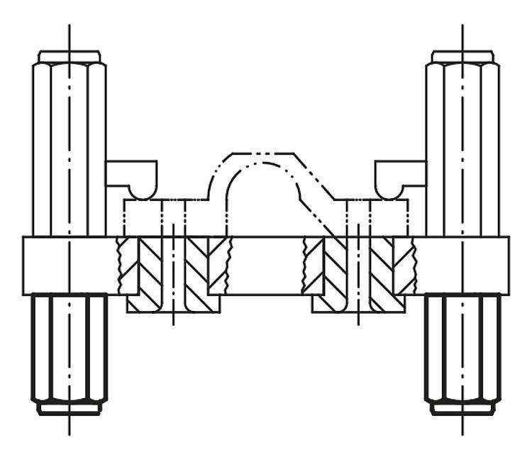 Colonne d'appui femelle - Appuis et pieds de position
