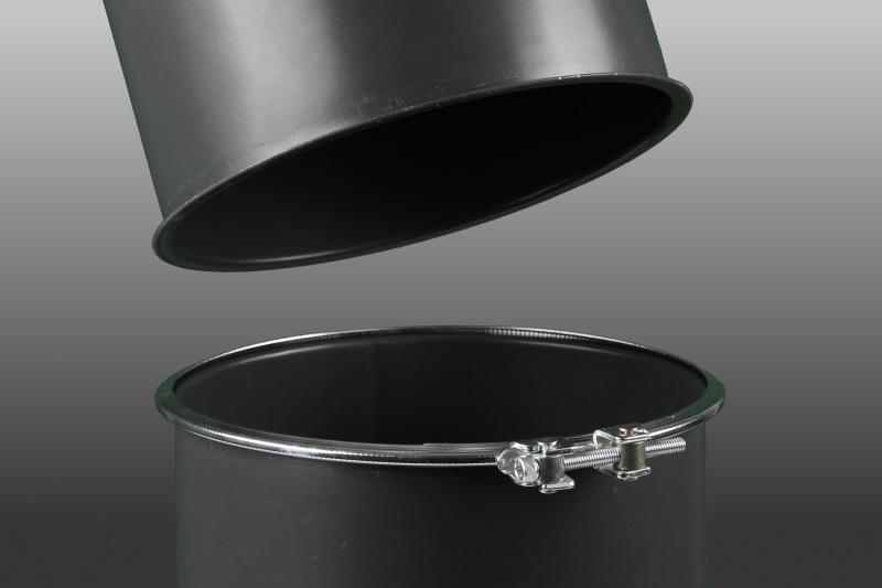 Einteiliger Spannring - Spannringe mit Dichteinlage werden für 1 mm Rohrbau ab Lager geliefert.