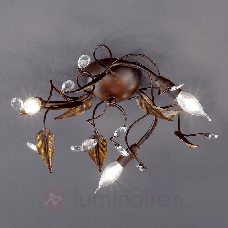 Plafonnier CATANIA style florentin à 3 lampes - Plafonniers rustiques