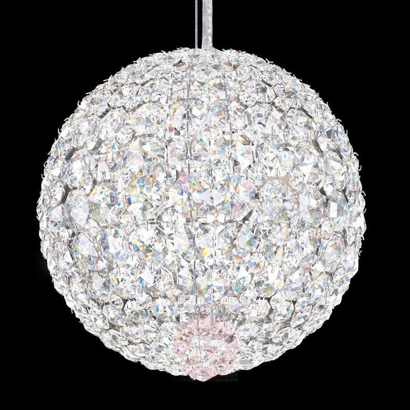 Spherical crystal hanging light Vincent, 20 cm - Pendant Lighting