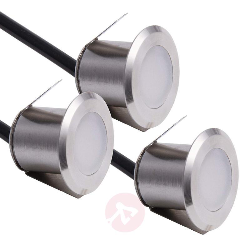 Kehlheim LED recessed floor light, set of 3 - outdoor-led-lights