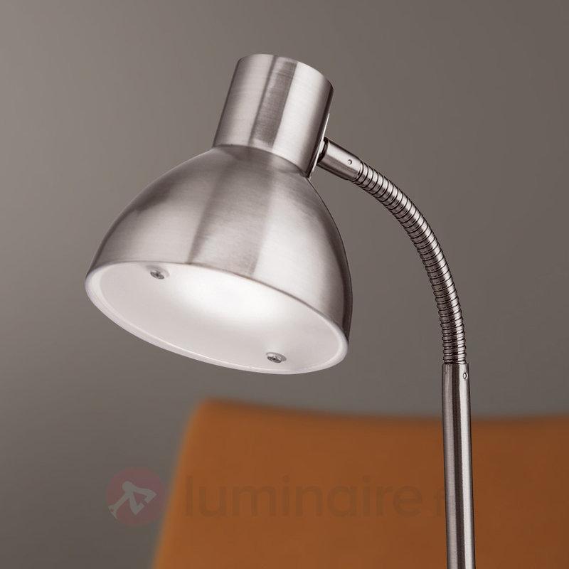 Lampe de bureau LED Isra nickel mat - Lampes de bureau LED