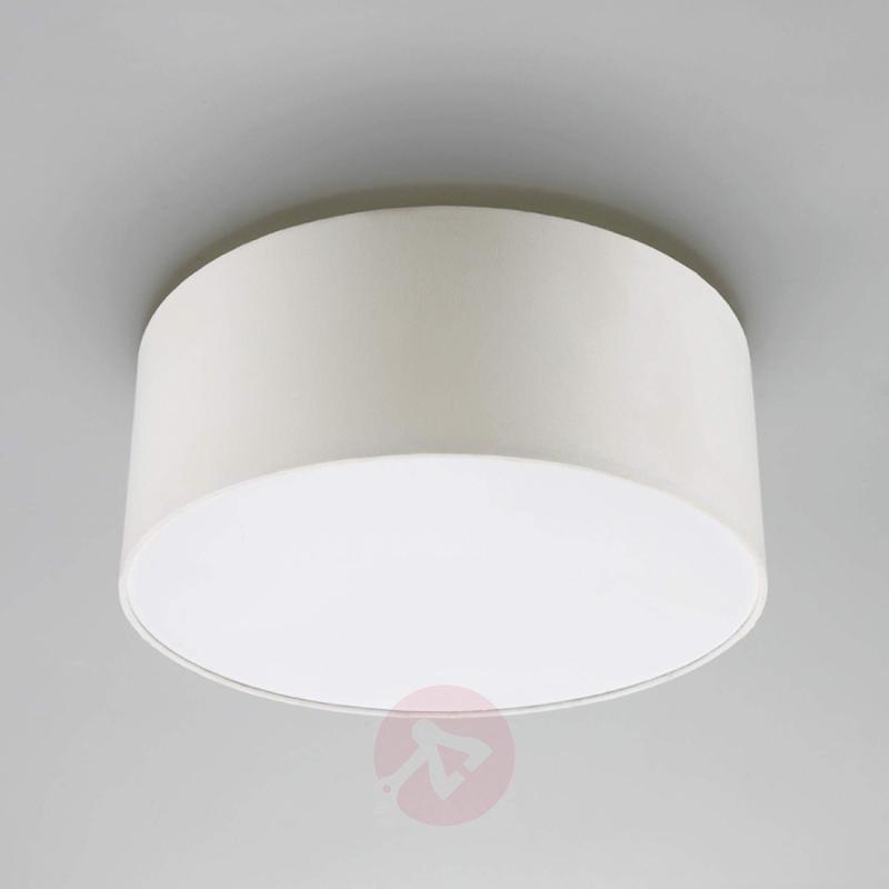 Cream white fabric ceiling light Pitta - indoor-lighting