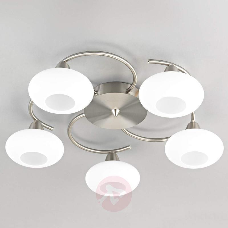 LED ceiling light Espen, matt nickel finish - Ceiling Lights