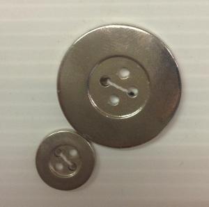 Bouton 4 trous (Plastique - 28 mm - Argent) - Boutons