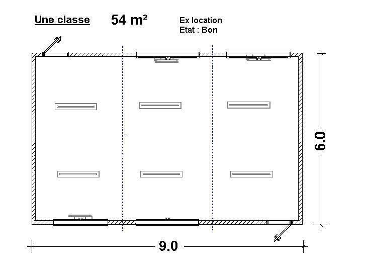 Constructions modulaires  - Classe de 54 m²