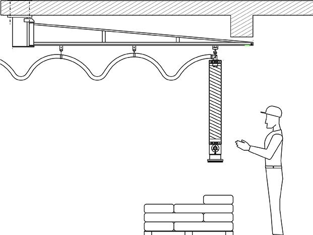 Cranes and rail systems for tube lifters - null