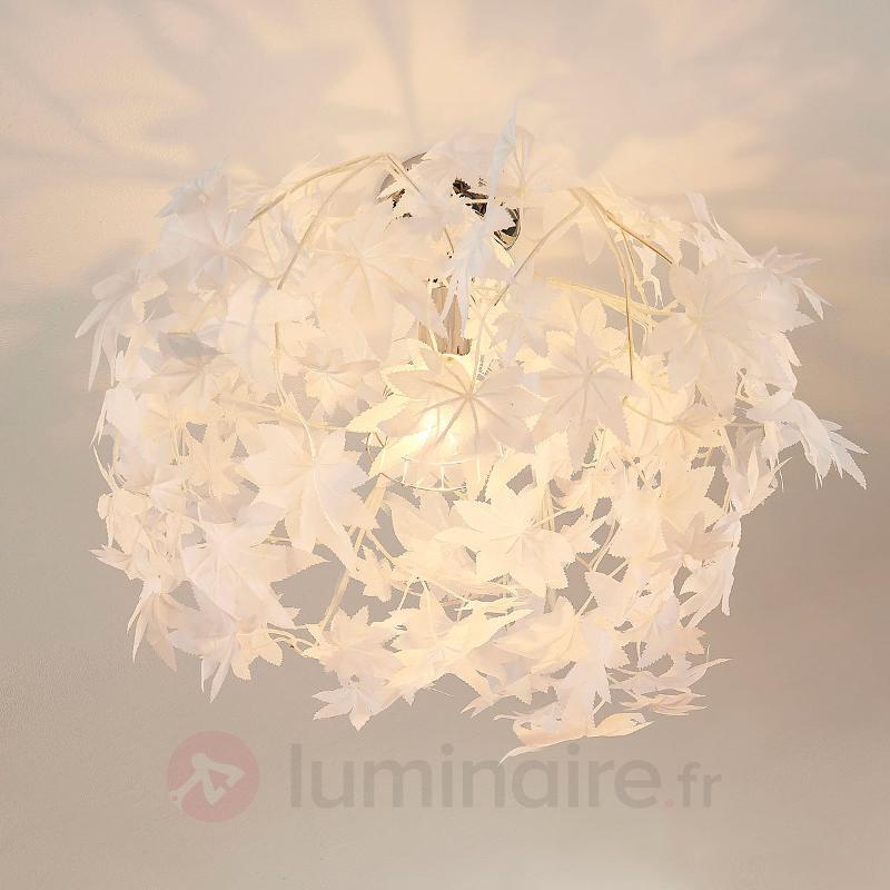 Plafonnier Maple avec joli décor de feuilles - Plafonniers en tissu
