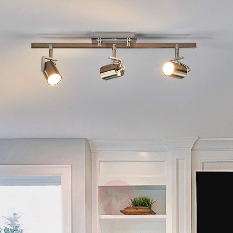 Three-bulb GU10 spotlight Morea with LED - indoor-lighting