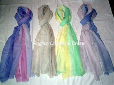 Modal Ombre Dyed Solid Color Stoles - Modal Ombre Dyed Solid Color Stoles