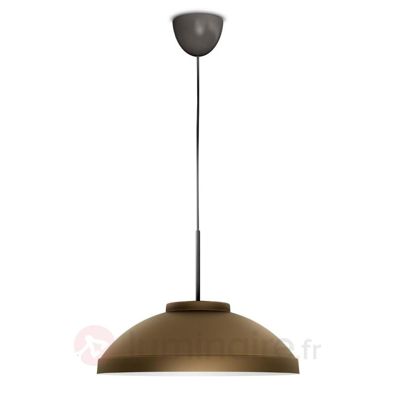 Suspension LED Hailton, aspect bronze - Suspensions LED