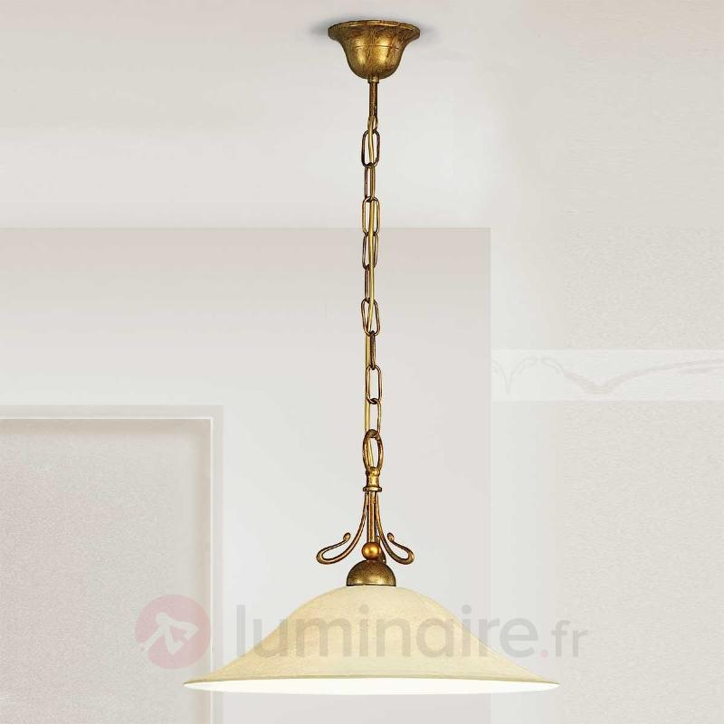 Suspension Antonio en laiton antique - Suspensions rustiques