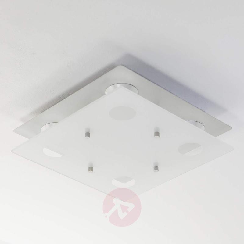 Filian square LED ceiling lamp, 4-fl. - Ceiling Lights