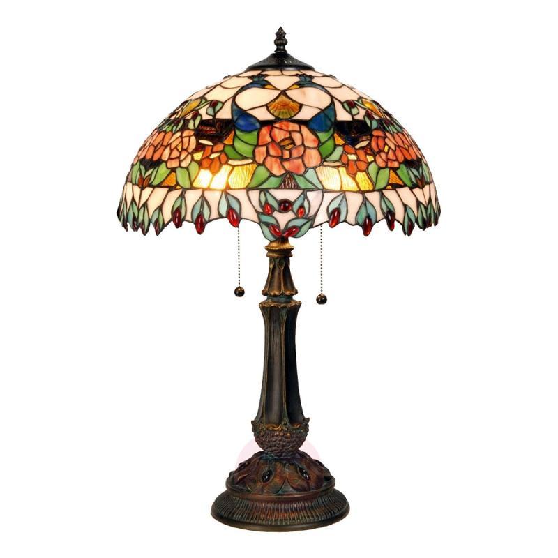 Colourful table lamp Maja, Tiffany-design - indoor-lighting