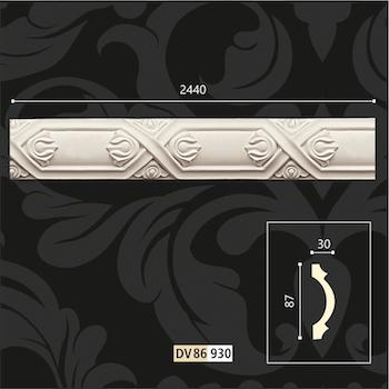 polyurethane wall borders design Ornaments patterned - polyurethane wall decorations