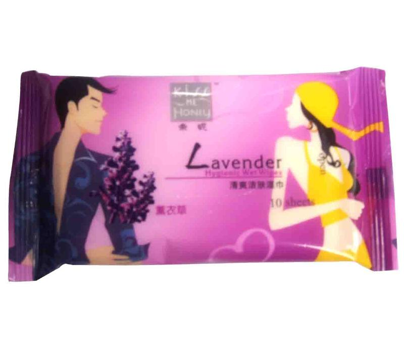 Hygienic Wet Wipes 10S-Lavender - null