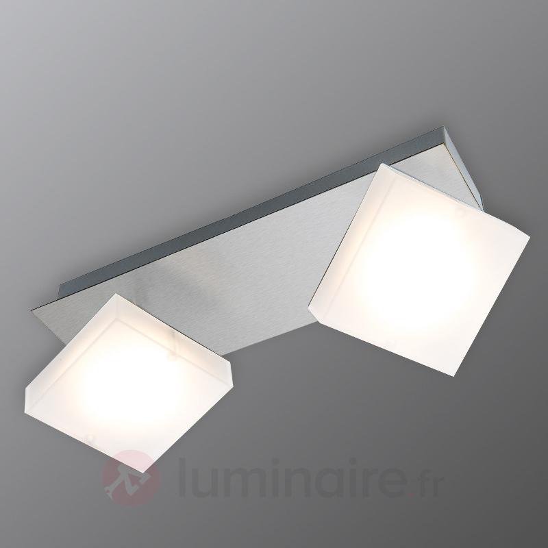 Plafonnier LED à deux lampes Denise - Plafonniers chromés/nickel/inox
