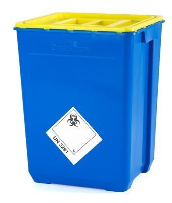 Container voor medisch afval - Flynther heeft een breed assortiment containers om medisch afval veilig op te be