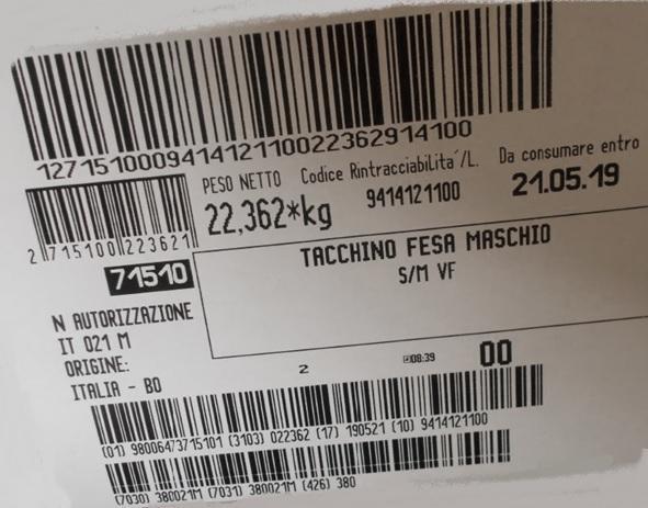Fesa Tacchino Nazionale Classe A Sottovuoto Fresca - Carne - Avicunicoli - FRESCO