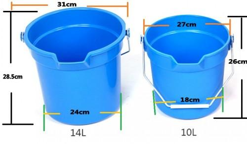 PP water bucket with measuring scale /marks  - measuring scale/marks water bucket