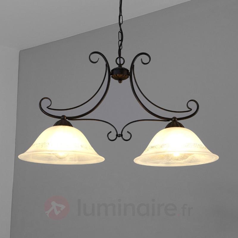 Suspension Calabre à 2 lampes - Suspensions rustiques