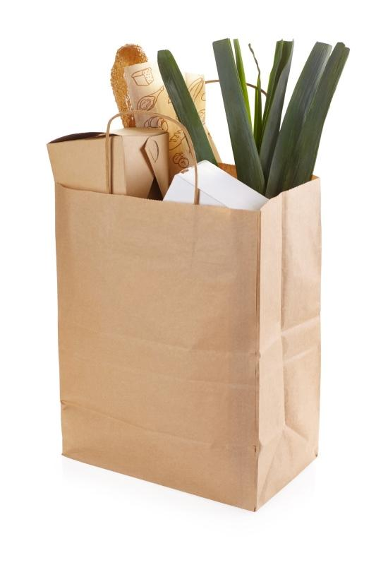 Paper bags with handles - Kraft bags with handles for goods