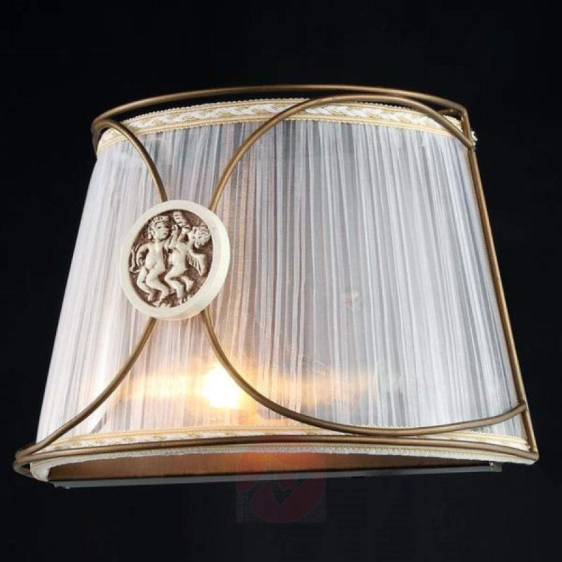 Letizia - organza wall light with angel motif - design-hotel-lighting
