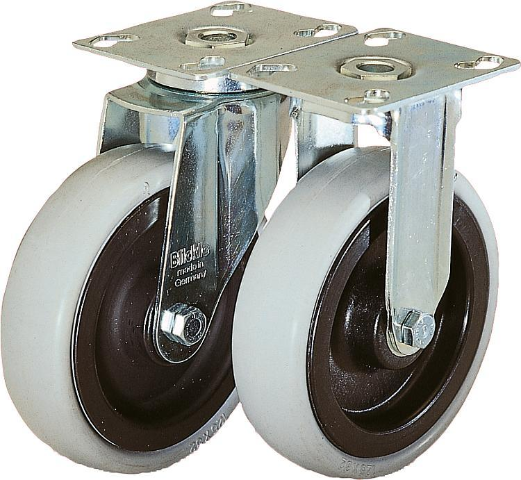 Swivel and fixed castors heavy-duty version - Wheels and rollers