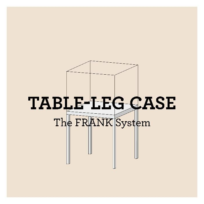 FRANK Table leg case - The FRANK system: modular showcases for temporary & permanent exhibitions