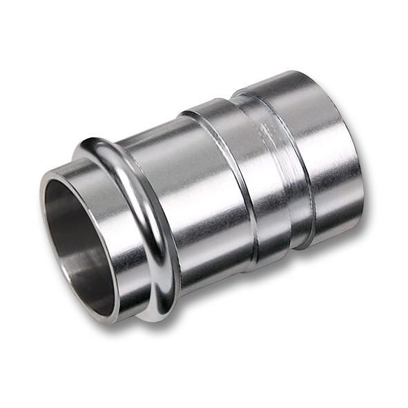 NiroSan® Übergangsnippel mit Einsteckende und Nut - NiroSan® Übergangsnippel mit Einsteckende und Nut für Rohrkupplung, Edelstahl