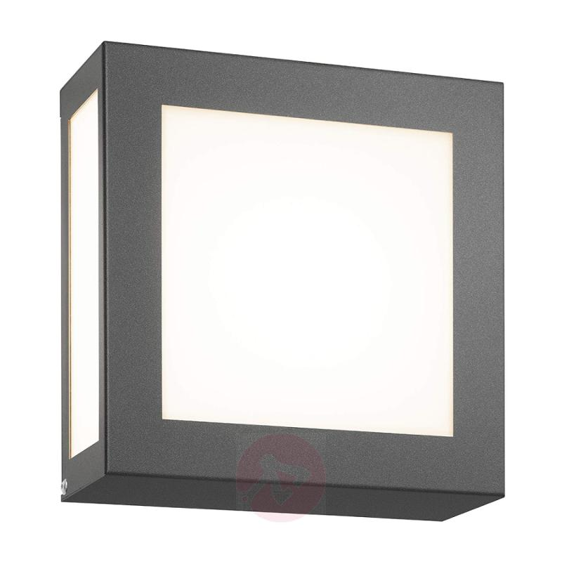Square outdoor wall light Aqua Legendo Mini, anthr - stainless-steel-outdoor-wall-lights