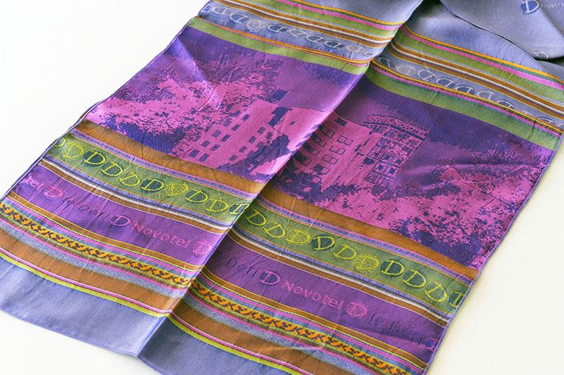 Echarpe tissée en soie  - cadeau d'affaires