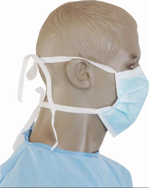 Mascarillas Quirúrgicas en PP azul, con correas, tríptico - Mascarillas Quirúrgicas en PP azul, con correas, tríptico