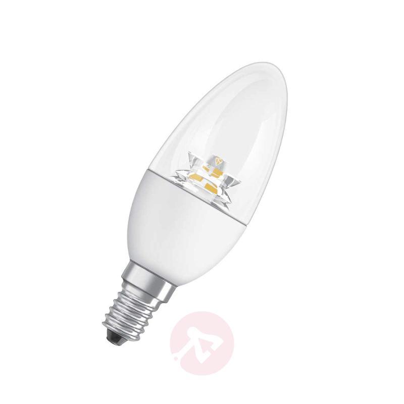 E14 6W 827 LED candle bulb Superstar, clear, dimm. - light-bulbs