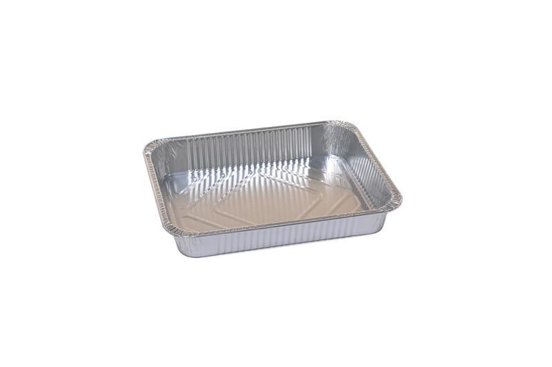 Vaschetta Alluminio Rettangolare 4 Porzioni R75G 100 pz - Non Food - Prodotti monouso e altri prodotti